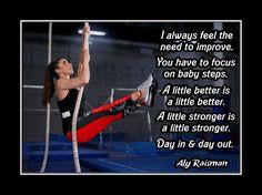 "Gymnastics Motivation Poster Aly Raisman Photo Quote Wall Art 5x7-11x14"" Always…"