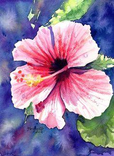 Original Watercolor Painting   Kauai Hibiscus  by kauaiartist