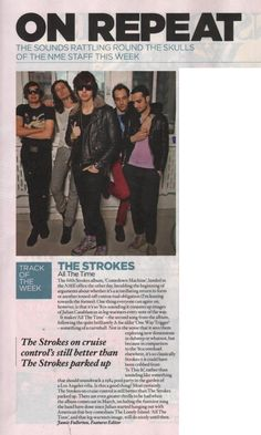 The Strokes on repeat @ NME