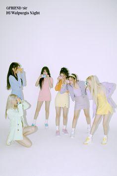 Gfriend Album, Gfriend Yuju, Gfriend Sowon, Kpop Girl Groups, Korean Girl Groups, Kpop Girls, Pastel Outfit, K Pop, Walpurgis Night