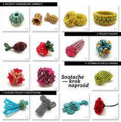 Digital manual: Soutache – one step beyond / Skrypt: Soutache – krok naprzód - Tender December Diy Jewelry Projects, Diy Jewelry Making, Jewelry Crafts, Soutache Pattern, Soutache Tutorial, One Step Beyond, Shibori, Good Tutorials, Livres