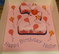 Peppa Pig Number 2 Birthday Cake