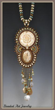 Bead Embroidered Beadwork Beaded Rose Goddess by beadedartjewelry