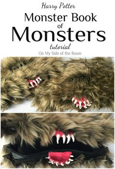 Learn how to make your own Harry Potter Monster Book of Monsters in this step by step tutorial