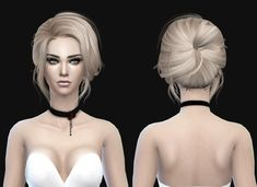 Stealthic's Retexture / Edit 500 500 Follower Gift Newsea Starlet Conversion hairstyle Short hairstyles for Females ~ Sims 4 Hairs