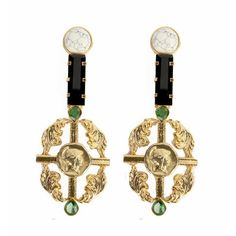 Valliyan 18Kt Gold Plated Rococo Earrings