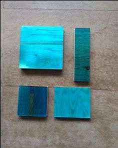 Liquid Gloss colour coatings: same colour on different types of wood gives a different look and color