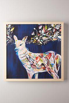 Mooreland Wall Art, Charmed Deer #anthropologie