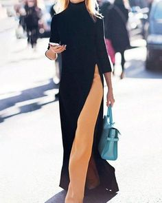 Midi Dress Outfit, Pants Outfit, Dress Pants, Casual Outfits, Fashion Outfits, Fashion Tips, Casual Clothes, Knit Fashion, Womens Fashion
