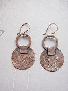 Copper Earrings by Mary Bulanova