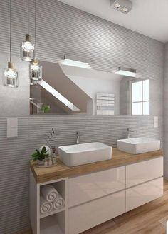 Fantastic Pic Bathroom Cabinets mirror Suggestions Bathroom cabinets are generally widely thought to be to own almost all affect in a very toilet remod Modern Bathroom Design, Bathroom Interior Design, Interior Decorating, Bad Inspiration, Bathroom Inspiration, Mirror Cabinets, Bathroom Cabinets, Above Counter Bathroom Sink, Bathroom Furniture