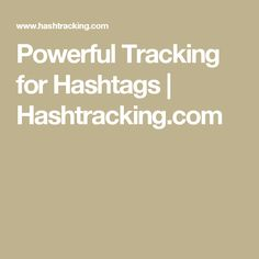Powerful Tracking for Hashtags | Hashtracking.com