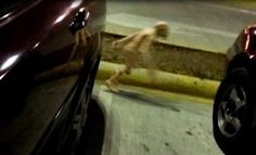 MAN RECORDS SMALL ALIEN CREATURE AT PARKING LOT IN MEXICO
