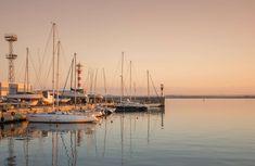 #bay #boats #coast #dawn #dock #harbor #harbour #luxury #marina #modern #ocean #pier #port #reflection #sail #sailboats #sailing #sea #seashore #sky #skyline #sunset #tourism #transportation system #travel #water #watercra