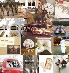 Beautiful southern wedding ideas...Love the use of cotton