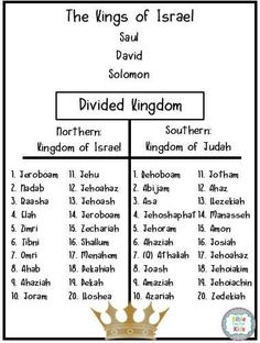 Bible Fun For Kids: Kings in the Old Testament Lesson Links