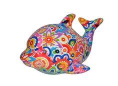 Pomme-Pidou - Spaarpot Dolfijn Twisty - Gekleurd - Dolfijn - Bloemsierkunst Rutten Budel