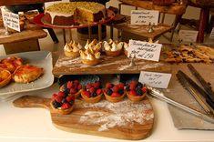 Rustic Wedding Dessert Table Idea