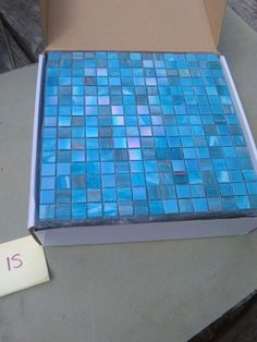 Blue Glass Mosaics Tiles Sheets, Original Style, Tile Border, Feature  32.5cm2 In