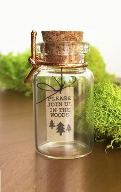 Wonderful Woodland Outdoor Wedding Save the date by HEIDIandLilC