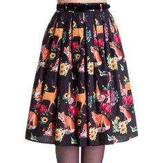 Hell Bunny 'Hermeline' Forest Animals 50's Skirt