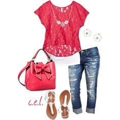 """""""Strawberry Pink..."""" by sweetlikecandycane on Polyvore"""