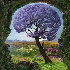 These surreal nature-inspired illustrations are by Polish artist Igor Morski. Morski creates surrealist illustrations for magazines, books, posters, and Illusion Kunst, Illusion Art, Brain Art, Brain Yoga, Kunst Online, Psychedelic Art, Surreal Art, Pictures Of You, Optical Illusions