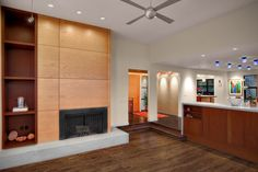 Clean and simple contemporary fireplace design. From 1 of 11 projects by Knowles PS.