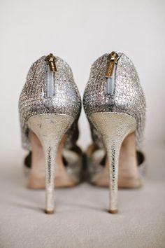 7a9cb4d516f4 Zipper back Jimmy Choo. Photography by Brandon Werth Photography    brandonwerth.com  Bridal · Bridal Wedding ShoesWedding ...