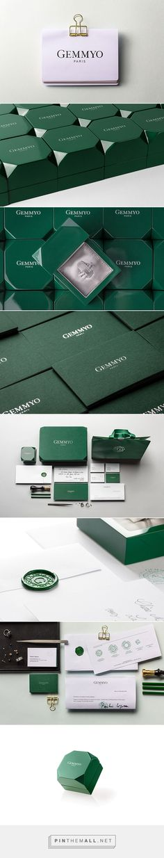 Gemmyo on Behance via Le Goff et Gabarra curated by Packaging Diva PD. Packaging branding for Gemmyo, jewellery in Paris.