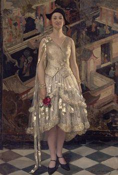 """""""La Robe d'Argent"""", ca. 1929, by Paul Albert Laurens (French, 1870-1934). Musee d'Art et d'Industrie."""