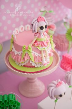 Lalaloopsi birthday cake by Cake by Kim. Styling by Sweet Bambini. Photo by Adoria Photography.
