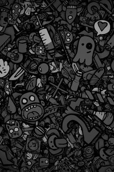 Wallpaper cartoon black and white 52 Ideas Grey Wallpaper 4k, Original Iphone Wallpaper, Graffiti Wallpaper, Photo Wallpaper, Cartoon Wallpaper, Pattern Wallpaper, Wallpaper Backgrounds, Epic Backgrounds, Wallpaper Gallery