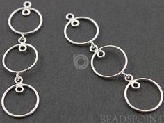 Sterling Silver Round Drop Chandelier Earring by Beadspoint, $11.99