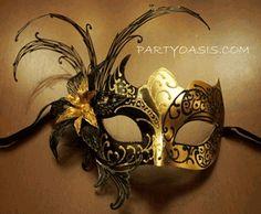 Black Gold Masquerade Mask