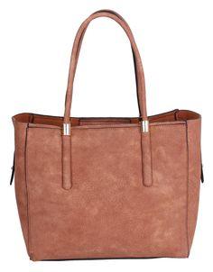 76215 2 Pieces Set Premium Faux Leather Cross-body Shopping Tote Purse