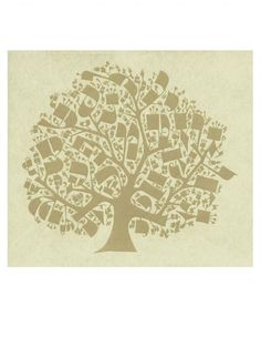A tree made from the letters of the Hebrew alphabet, where one letter begets the nextLimited edition silk screen print40cm x 30cm