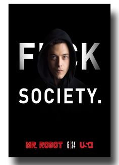 Luv this show #MrRobot #MrRobotPoster #MrRobotTvShow #RamiMalek poster available here FSociety >>ConcertPoster.org