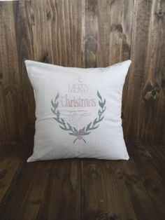 To You 16 x 16 Christmas Pillow Cover by ParrisChicBoutique, $25.00
