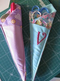 Folded Fabric Scissor Holder Tutorial #monogram #monograms #monogramed