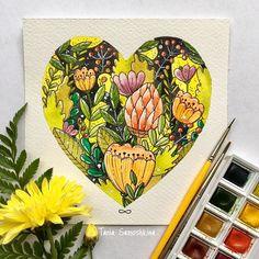 Flowers  #all_I_love #shapeofmyheart #illustration #painteveryday #watercolorart #artistsoninstagram #watercolor #flowers #summer #things_i_love #illustrations #painting
