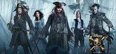 Pirates des Caraïbes : la Vengeance de Salazar, film avec Johnny Depp, Javier Bardem. Le Capitaine Jack Sparrow par à la recherche du trident de Poséidon.