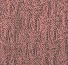 Ribbed Basketweave Square #free #knit #knitting #pattern #motif #square #freepattern #freeknittingpattern