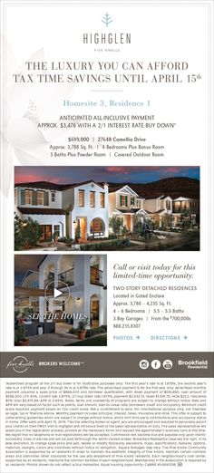 New Homes for Sale in Santa Clarita, California  Tax Time Savings Ends This Friday at Highglen in Five Knolls  Brokers Welcome!  Bring your clients today!  http://brookfieldsocal.com/neighborhood/highglen-at-five-knolls/