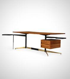 The best. **************************************Bureau (circa Gio Ponti www. Plumbing Pipe Furniture, Plywood Furniture, Gio Ponti, Vintage Furniture, Modern Furniture, Furniture Design, Mid Century Modern Desk, Coffee Table Design, Coffee Tables