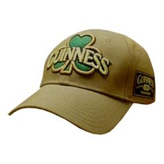 bd1d106b554 Brown Guinness baseball cap. Officially licensed product. Includes  embroidered shamrock at the front and