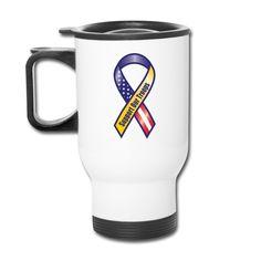 Support Our Troops Ribbon Thermal Travel Mug Travel Mug | Design Art Style Emporium