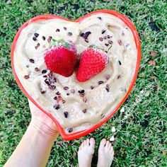 Oh just a big @heartbowl of LOVE (aka chocolate nice cream) with cacao nibs by the lovely @candicelynnfitvegan, a positive vibe filled gal living a fit life with #thek2movement  Love connecting with all of you, my s/o contest is still going on - to enter just repost any of my pics and tag #breakfastcriminals35k & @breakfastcriminals✌️#heartbowl