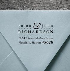 Custom Address Stamper Love Lock Creative Lovely Fantastic Design Modern Calligraphy Custom Personalized Self Inking Return Address Stamp