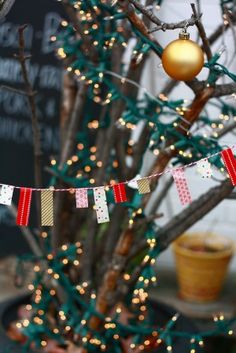 how cute would this little washi tape garland be in the camper?